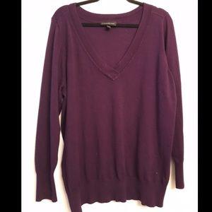 🎉3/$25 Lane Bryant Purple V-Neck Sweater 22/24
